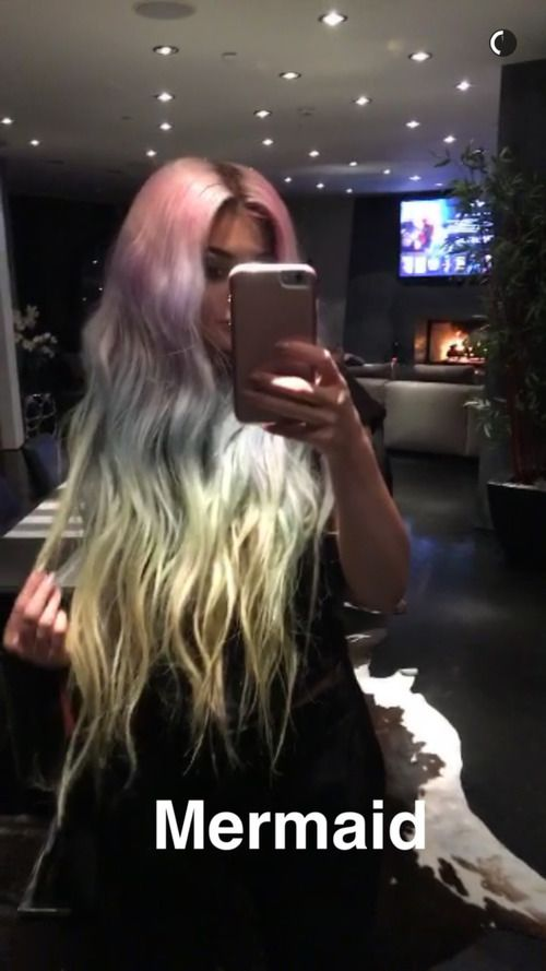 kylie jenner, hair, and mermaid image