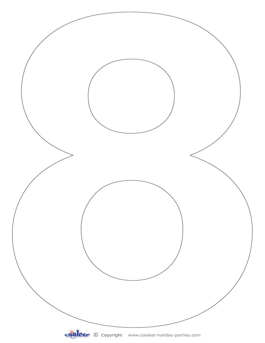 Printable Number 8 Printable Numbers Easy Coloring Pages Numbers