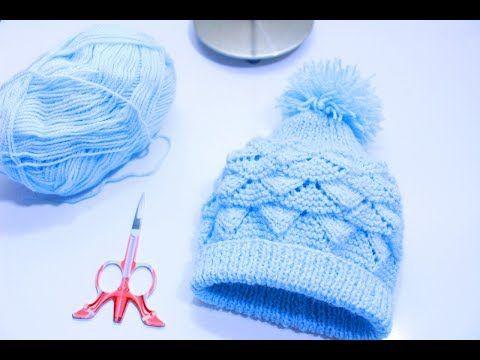 Gorrinho Ana 0 – 3 meses – Receita e vídeo 💕 – Tricotando Crochê Touca De 8b0e2092c68
