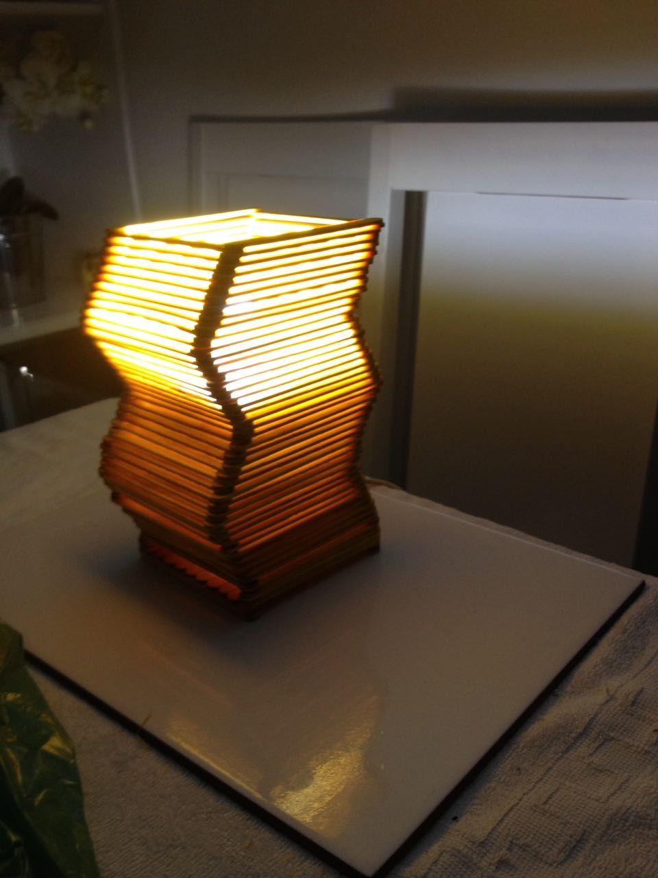 Luminaria De Palito De Picole Palito De Picole Palitos E Artesanato