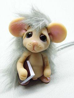 OOAK Handmade Polymer Clay Little Mouse Filmor | Flickr - Photo Sharing!