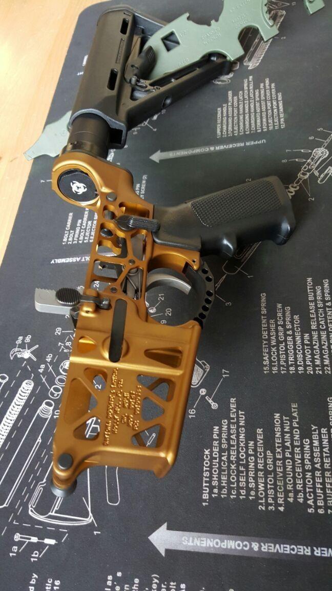 DDT-15 Complete Skeleton Lower - Stainless Hammer Trigger