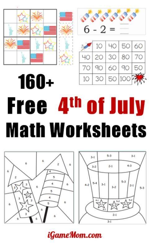 160 Fourth Of July Printable Math Worksheets Kids Math Worksheets Kindergarten Worksheets Printable Math Worksheets