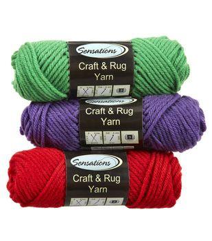 Sensations Craft And Rug Yarn Rug Yarn Yarn Crafts