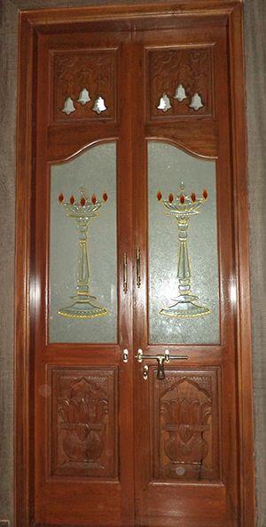 Pooja Room Doors & Glass Door Designs Puja Room Main Doors ...