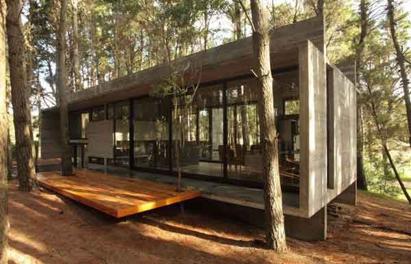 Eco Friendly House Design In The Middle Of Forest By BAK .