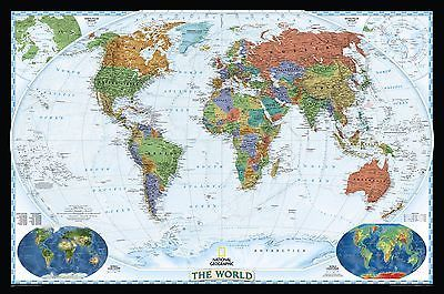 Globes And Maps National Geographic Maps World Decorator - Buy wall map of the world