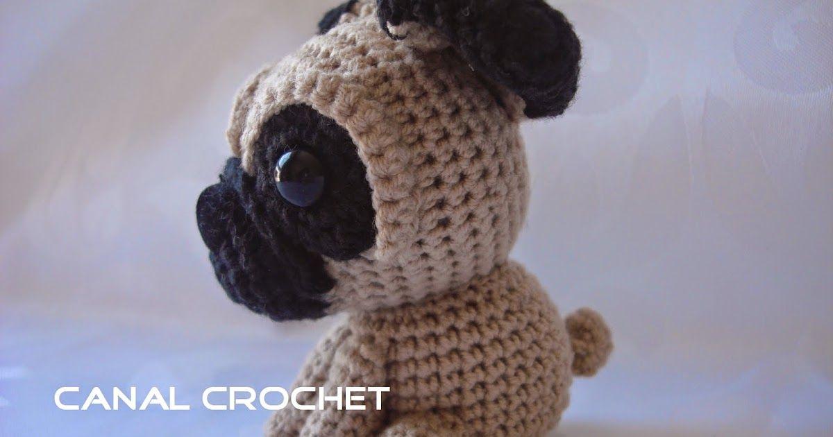 CANAL CROCHET: Perro pug amigurumi patrón libre: | Amigurumis ...
