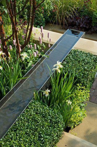 Die 30 schönsten grünen Gartenideen #waterfeatures