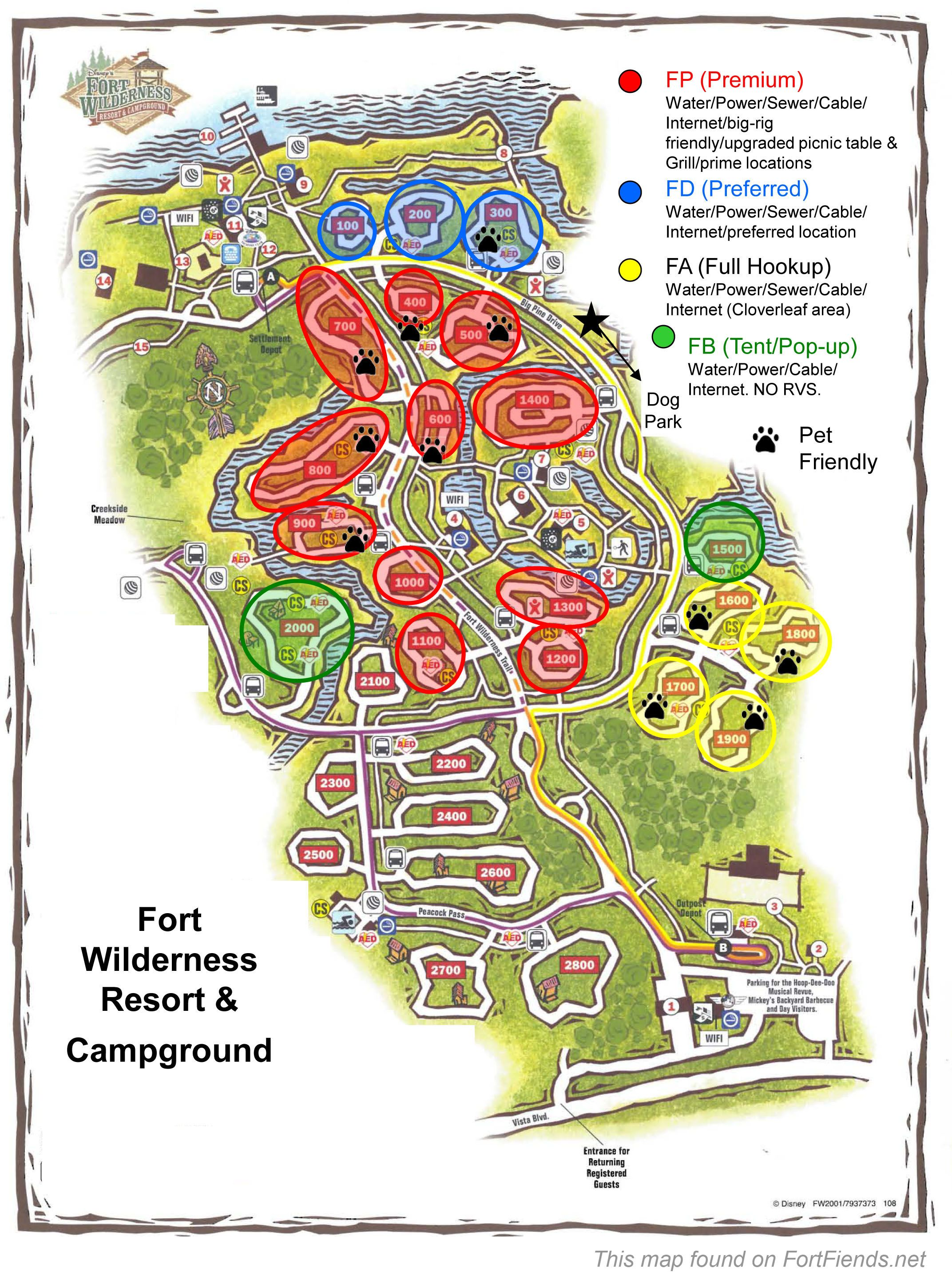 Campground Map RV ideas Pinterest Rv