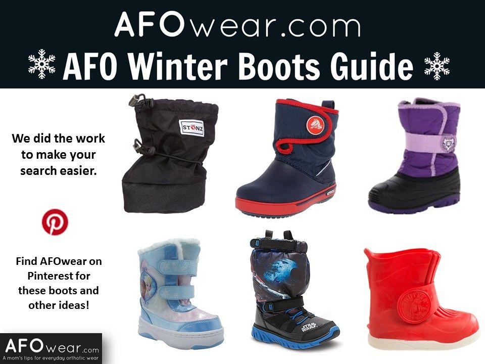 ac4e80ccaa07 We did the work to make your search for AFO-friendly boots easier! Check  out AFO Winter Boots Guide to find a pair that fit your child AFO