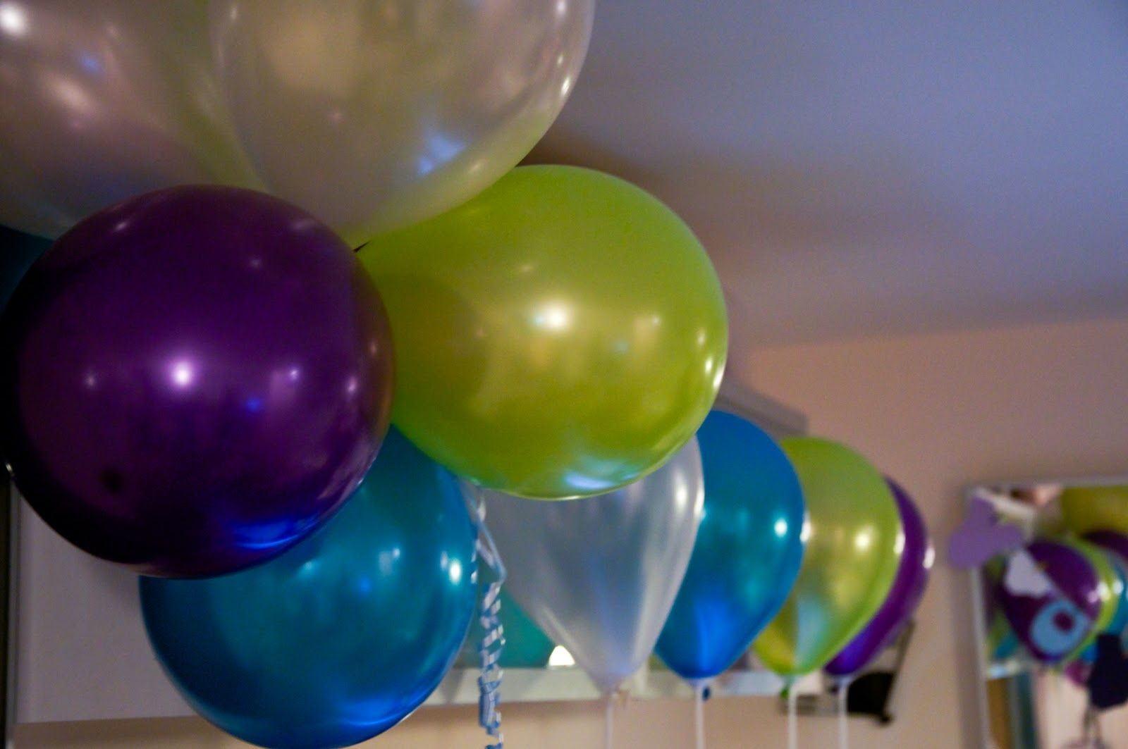 Green and blue balloons - Purple And Green Balloons Google Search