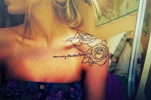 Love This Placement And Flowers With The Small Cursive Writingvery Classy Looking To Me If I Were Get One Ever Itd Be Something Effect