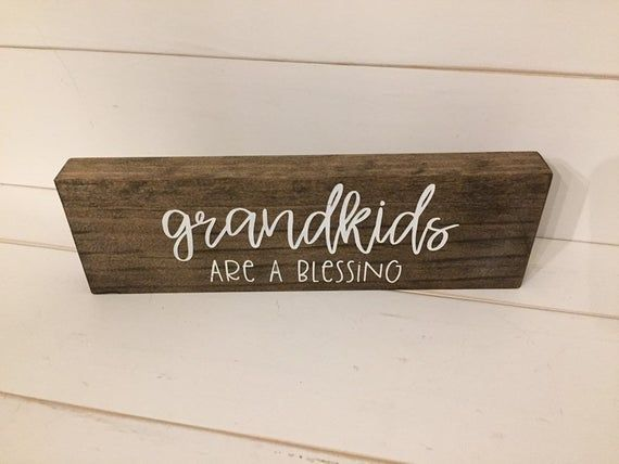 Grandkids are a Blessing Sign, Gift for Grandparents, Hand painted Grandkids Sign, Gift for Grandpar #bestgiftsforgrandparents