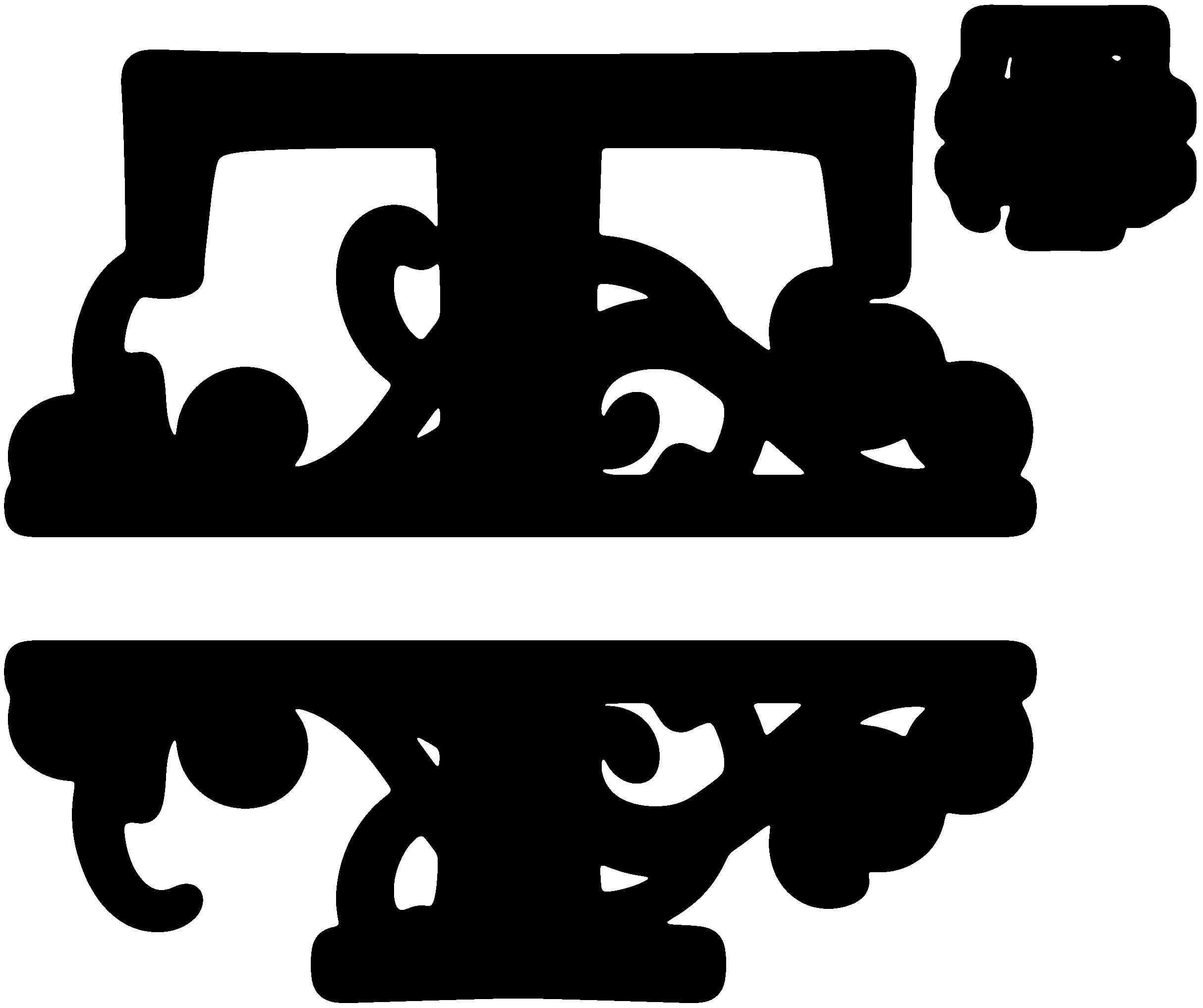 Split Regal Monogram Font Free