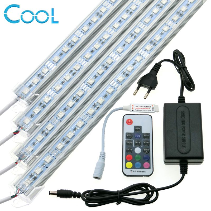 Sale RGB LED Bar Light Set 12V 5050 RGB Rigid LED Strip + 17Key RF - halter f r k chenrolle