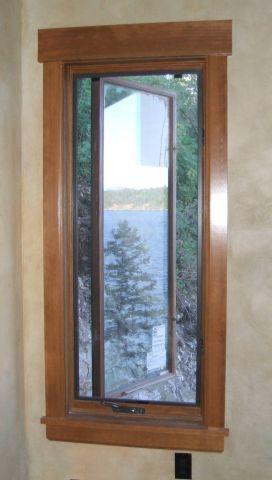 I like this interior window trim Rustic Colorado House Ideas