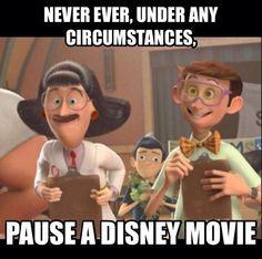 Never pause a Disney movie #disneymovies