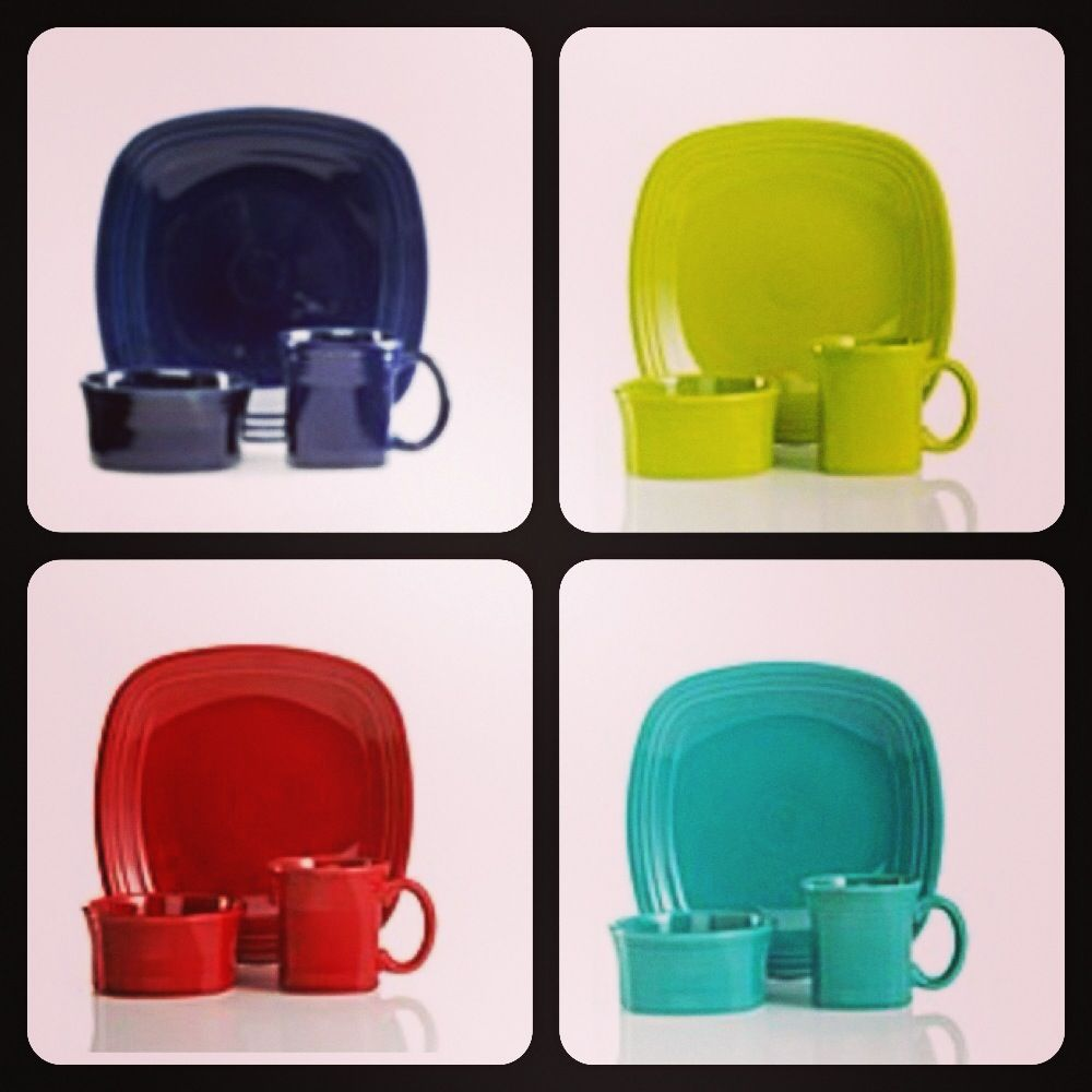 Square fiestaware from Macy\u0027s! & Square Fiesta® Dinnerware in Cobalt Lemongrass Scarlet and ...