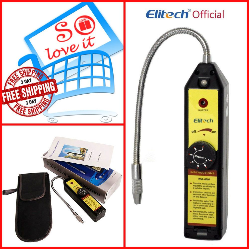Portable Halogen Gas Freon Refrigerant Leak Detector Car