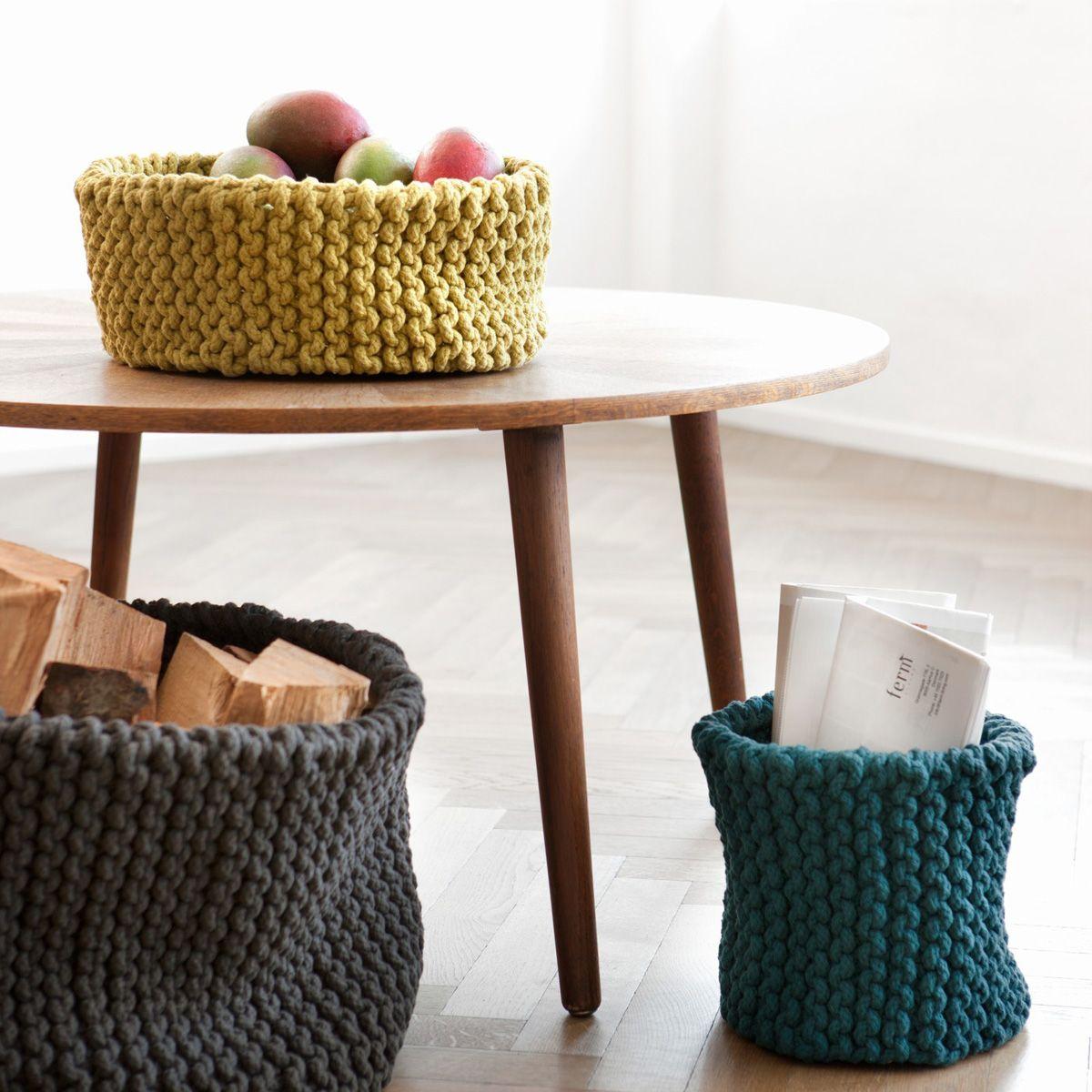 der knitted basket von ferm living ist eine tolle alternative fr frchteschale papierkrbe oder zeitschriftenhalter - Fantastisch Tolles Dekoration Ferm Living Korb