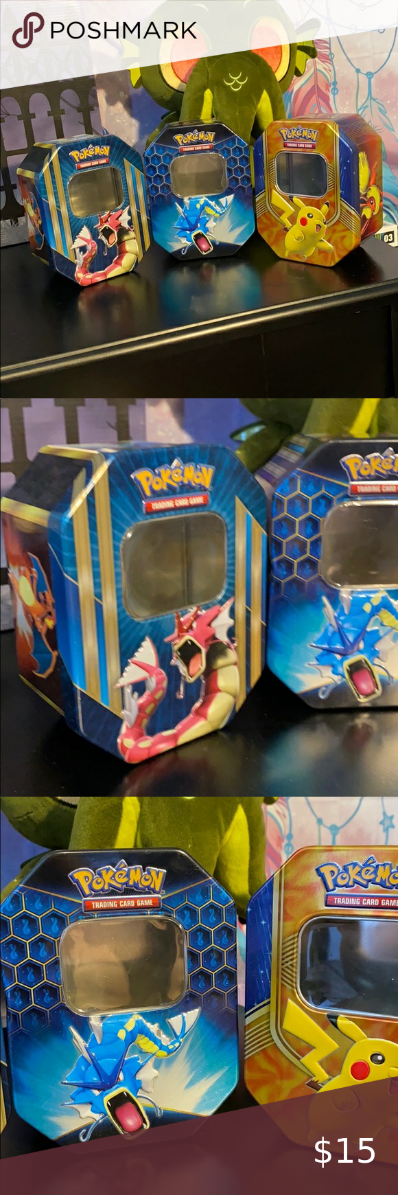 5/$25 3pc Pokémon Tins 5/$25 3pc Pokémon Tins Thre
