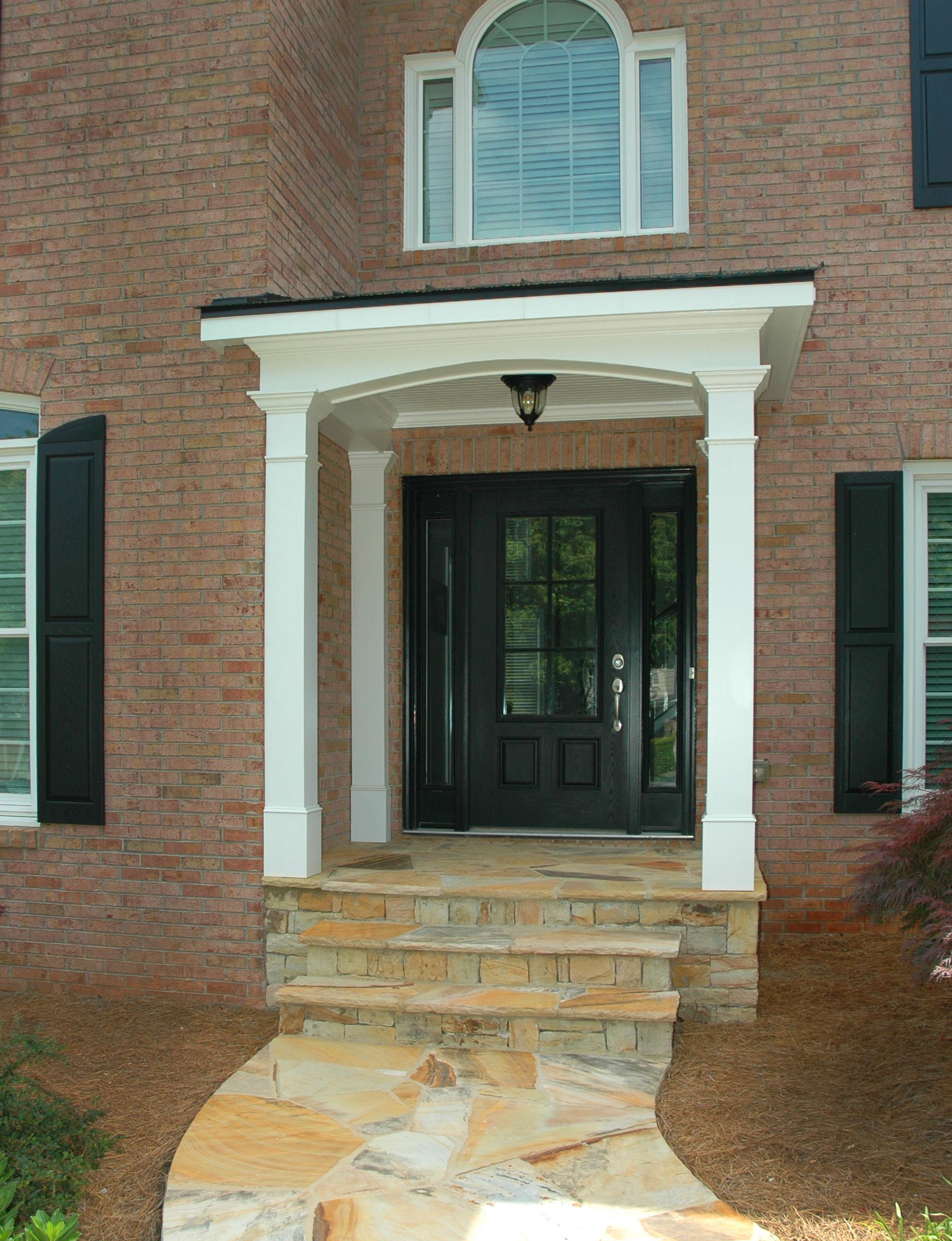Portico With Faux Balcony Designed And Built By Georgia