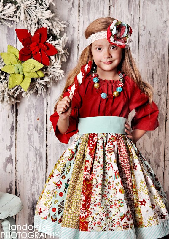 LAST ONE size 4t or smaller The Krissy Kringle dress by Corinna ...