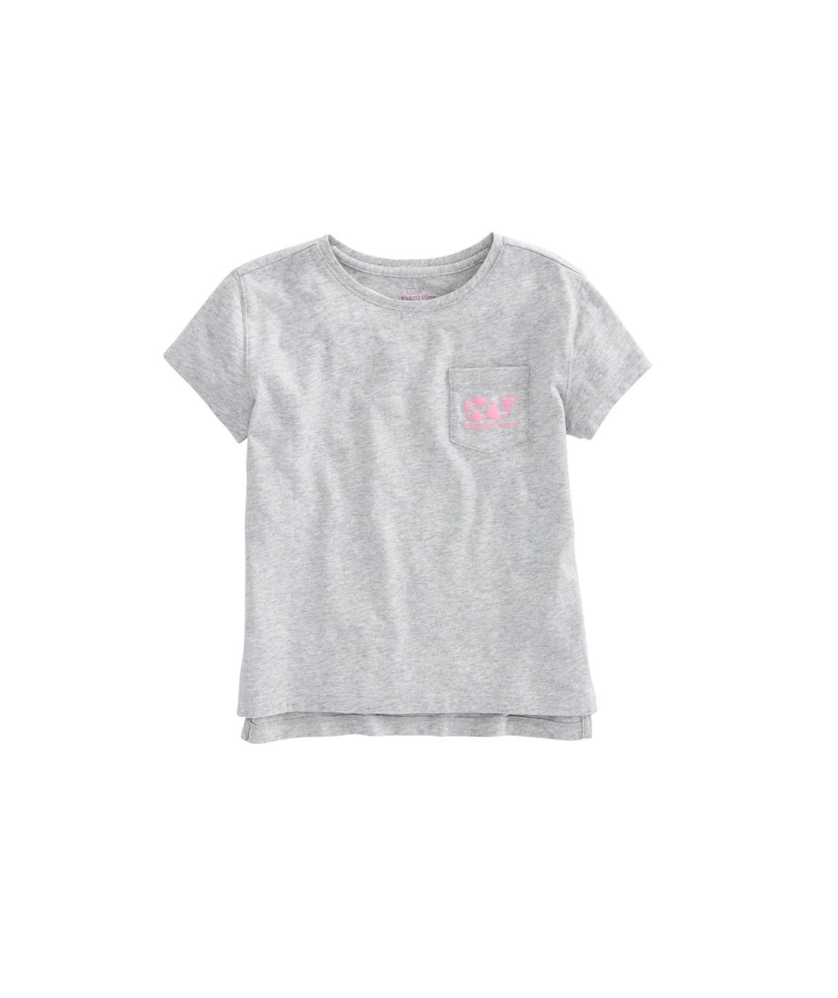 Vineyard Vines Girls S//S White Cap Simple Whale Tail Graphic T-Shirt