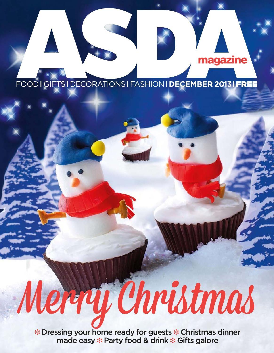 Asda Magazine December 2013 Easy Party Food Christmas Cooking Christmas Cake