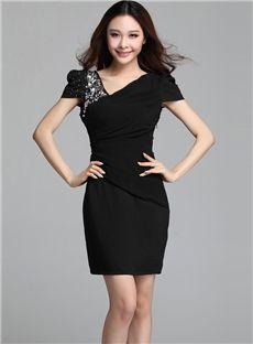 Romantic OL Style Slim Chiffon Sheath Slim Dress