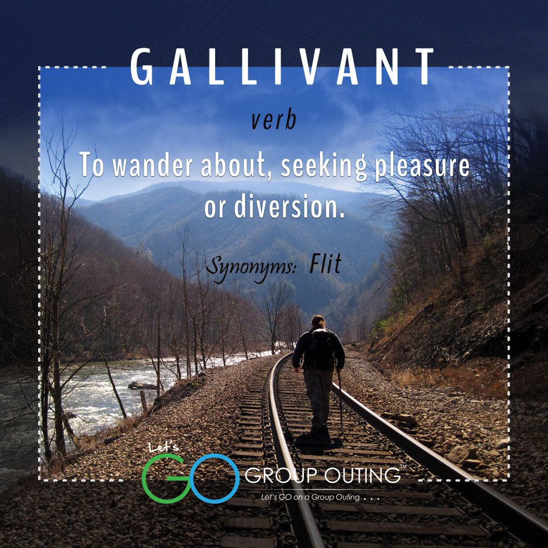 Groupouting Do You Know The Travelterm Gallivant Travel Terms Did You Know Travel