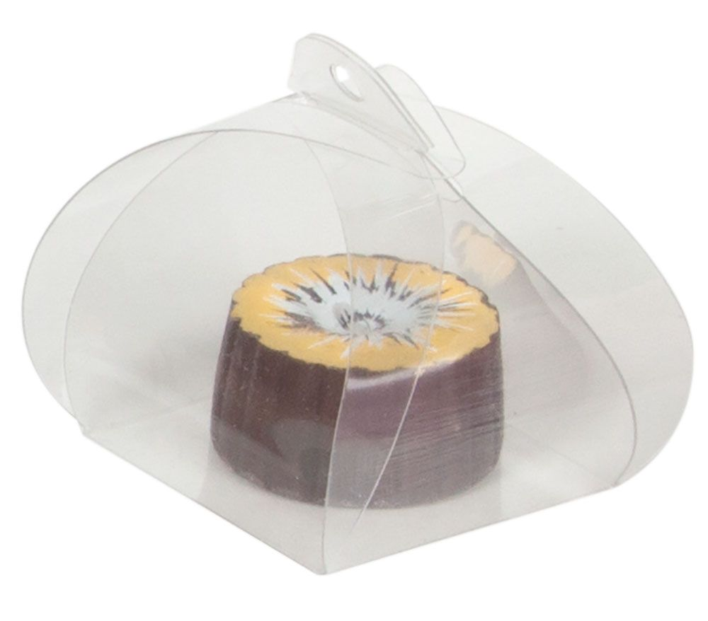 Clear plastic single truffle tote from Tap Packaging. confectioner ...