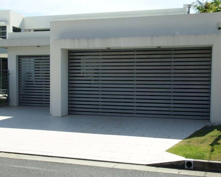 Architectural Series Grey Batten Door Centurion Airflow Series