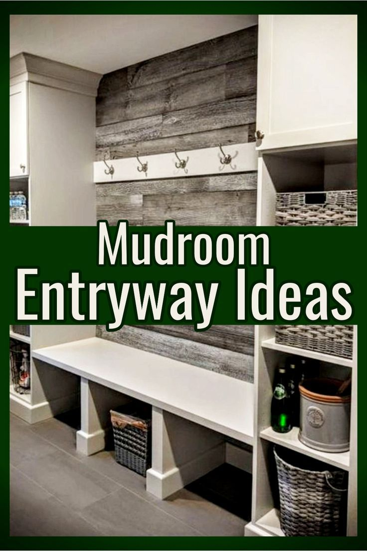 Mudroom Entryway Ideas for a gorgeous mudroom foyer entry hall.  These entryway ideas are also mudroom ideas for decorating your entryway in farmhouse mudroom style #entrywayideas