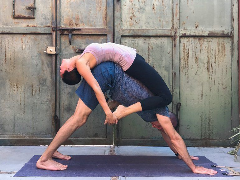 Couple S Yoga Poses 23 Easy Medium Hard Yoga Poses For Two People In 2020 Couples Yoga Poses Couples Yoga Hard Yoga Poses