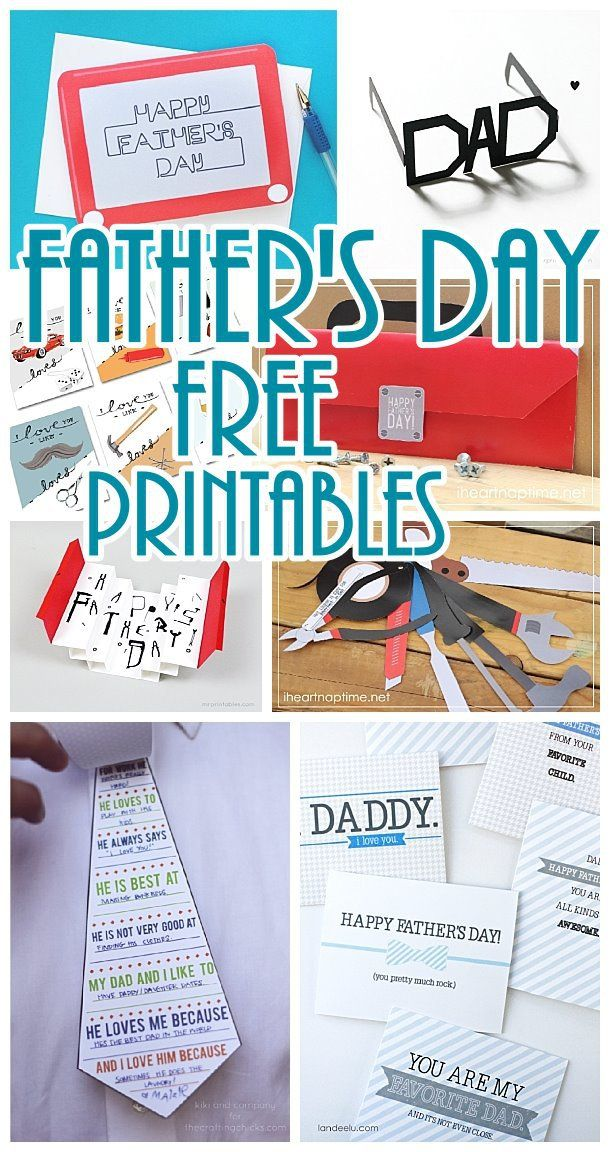 Diy Father S Day Cards The Best Free Printable Paper Crafts Just For Dad Diy Father S Day Cards Father S Day Diy Father S Day Printable