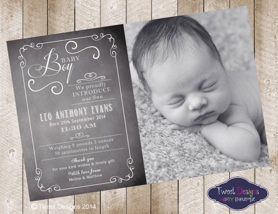 birth announcement printable baby