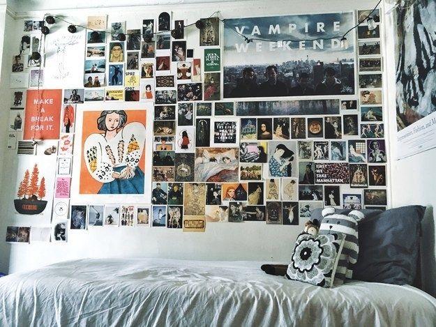 This Actual Magnum Opus Of A Wall Cute Dorm Rooms Dorm Room Decor College Dorm Rooms
