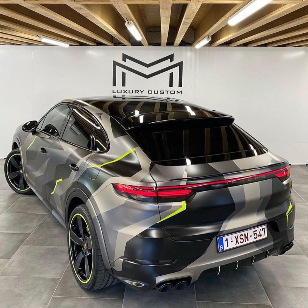Porsche Cayenne Coupe Fanpage On Instagram Camo Wrapped Porsche Cayenne Coupe Or Mmlc 06 Follow Cayennec Camo Wraps Porsche Cayenne Porsche