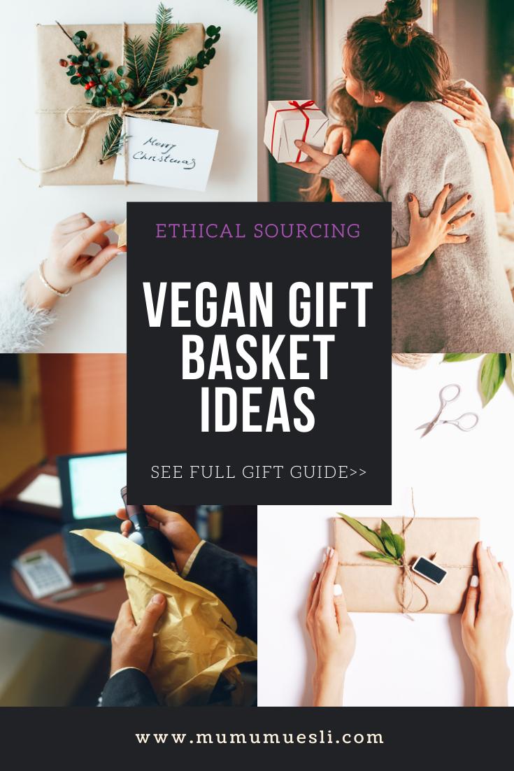 Diy Vegan Gift Baskets Your Holiday Inspiration Mu Mu Muesli Vegan Gifts Vegan Gift Basket Vegan Christmas Gifts