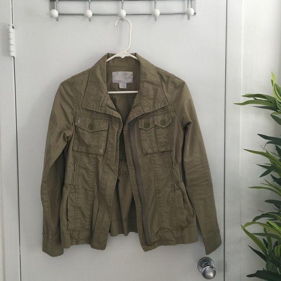 Navy green cargo jacket
