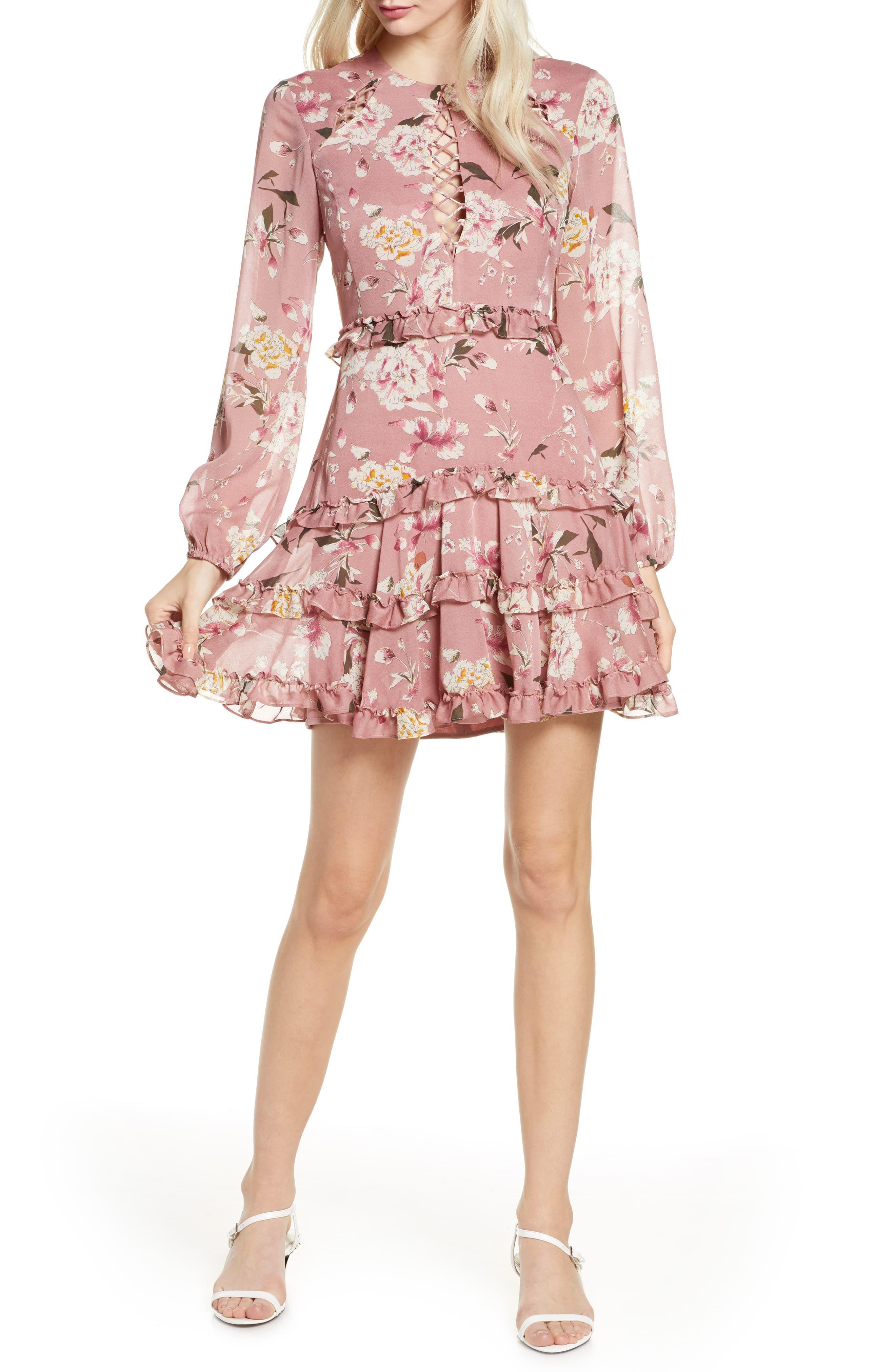 Women S Bardot Hazel Floral Minidress Size Large Pink Mini Dress Fashion Clothes Women Fashion [ 4048 x 2640 Pixel ]