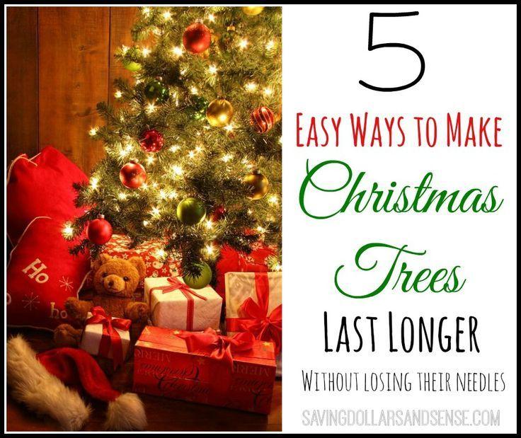 5 Ways To Make Christmas Tree Last Longer!