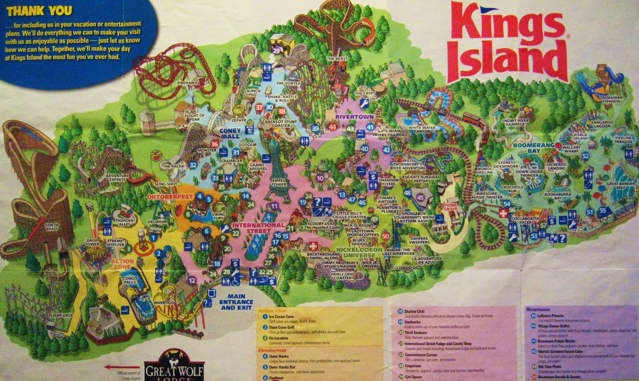 kings island cincinnati oh find this pin and more on theme park