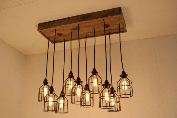 industrial lighting industrial chandelier black with reclaimed