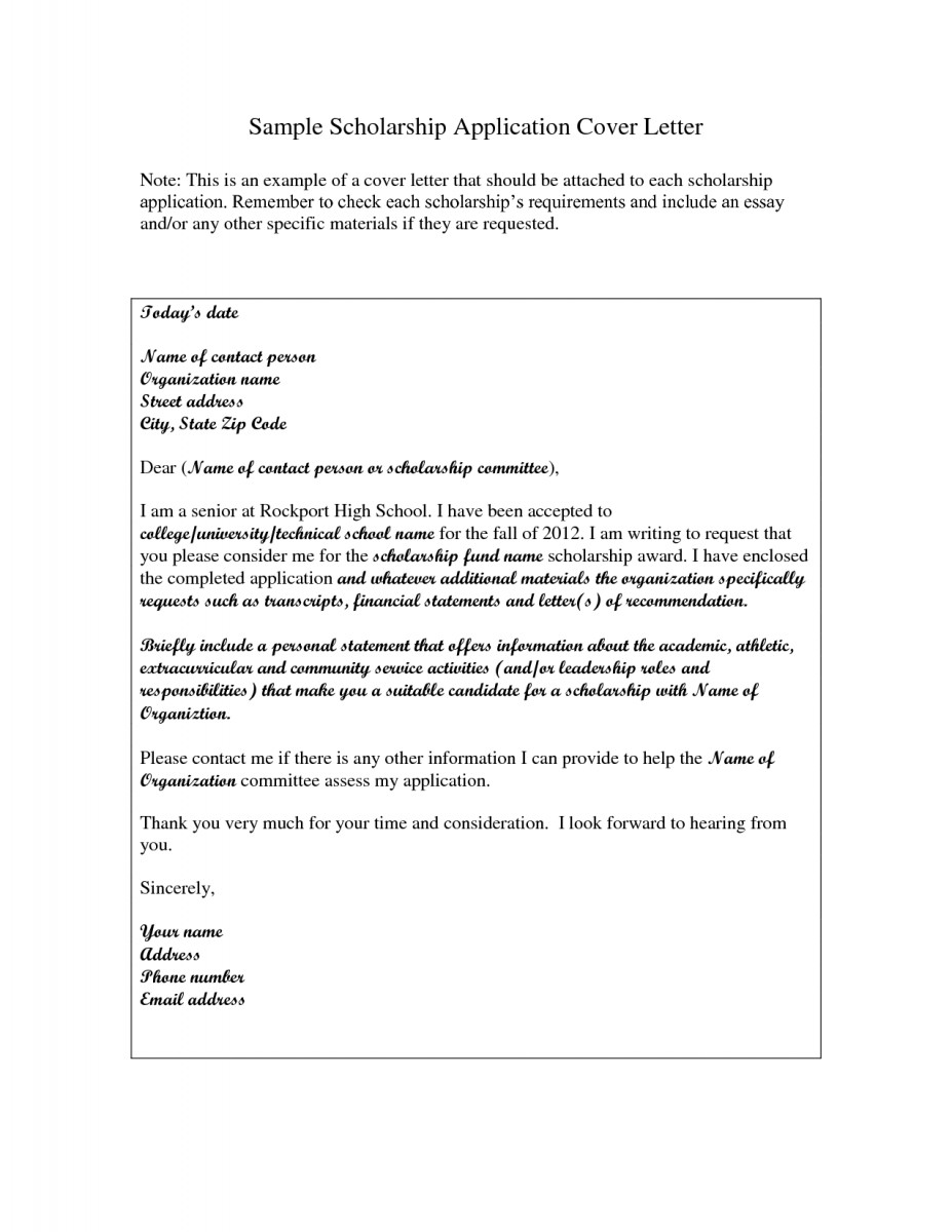 Awesome Scholarship Cover Letter Example Cheque Payment Receipt Format Word Agr  Officer Sample Resume Intended Scholarship Cover Letter Examples