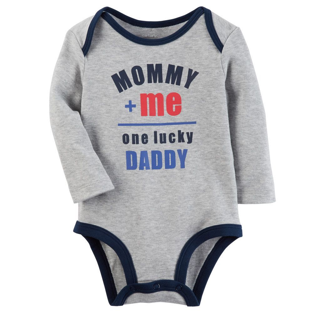 """Baby Boy Carter's """"Mommy + Me One Lucky Daddy"""" Graphic"""