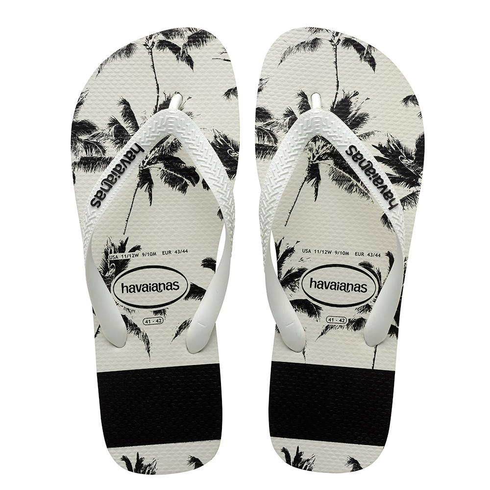 8adfe5557525c1 Havaianas Top Stripes Logo Sandal White Black Price From  ₩25