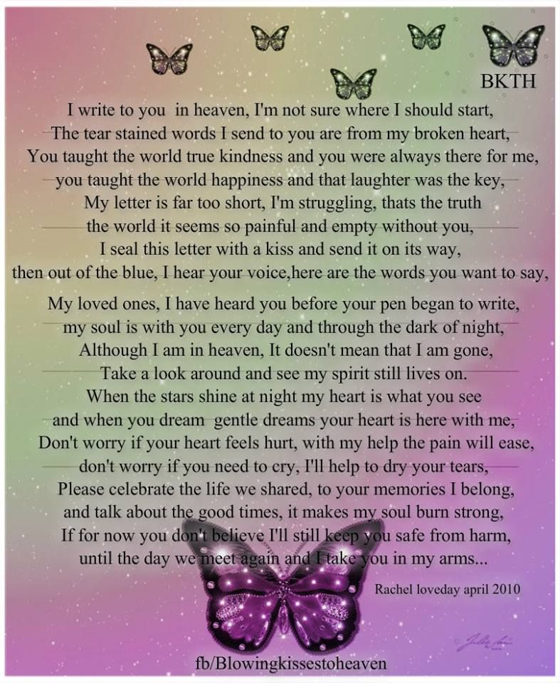 My letter to Heaven | Love of my life | Miss you daddy, Letter from